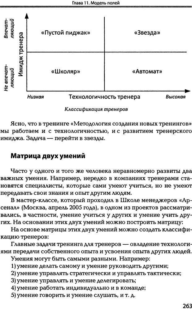 DJVU. Технологии создания тренинга. От замысла к результату [2008, DjVu, RUS]. Сидоренко Е. В. Страница 261. Читать онлайн