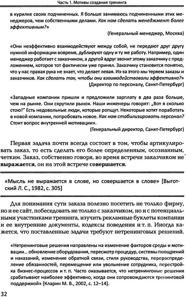 DJVU. Технологии создания тренинга. От замысла к результату [2008, DjVu, RUS]. Сидоренко Е. В. Страница 31. Читать онлайн