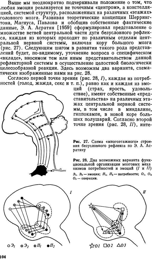 DJVU. Эмоциональный мозг. Симонов П. В. Страница 104. Читать онлайн