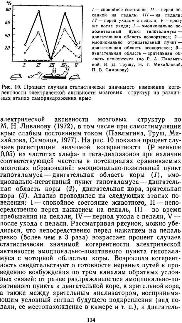 DJVU. Мотивированный мозг. Симонов П. В. Страница 115. Читать онлайн