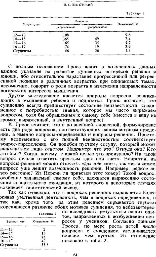 PDF. Том 4. Детская психология. Выготский Л. С. Страница 62. Читать онлайн