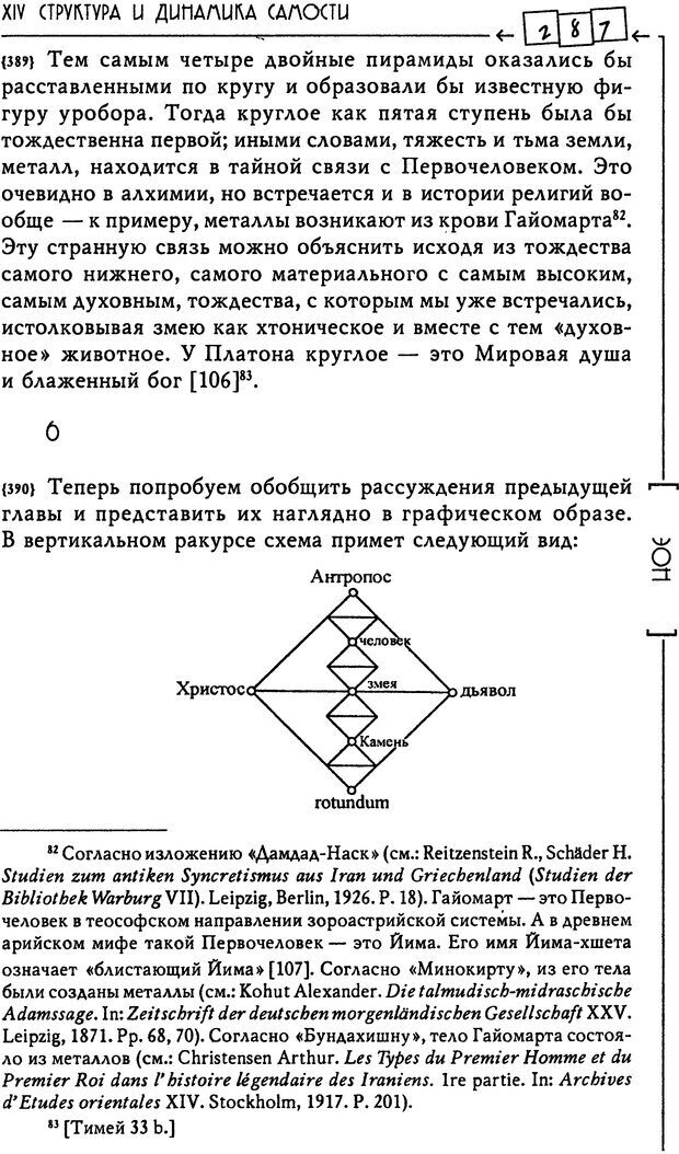 DJVU. Эон: исследования о символике самости. Юнг К. Г. Страница 288. Читать онлайн