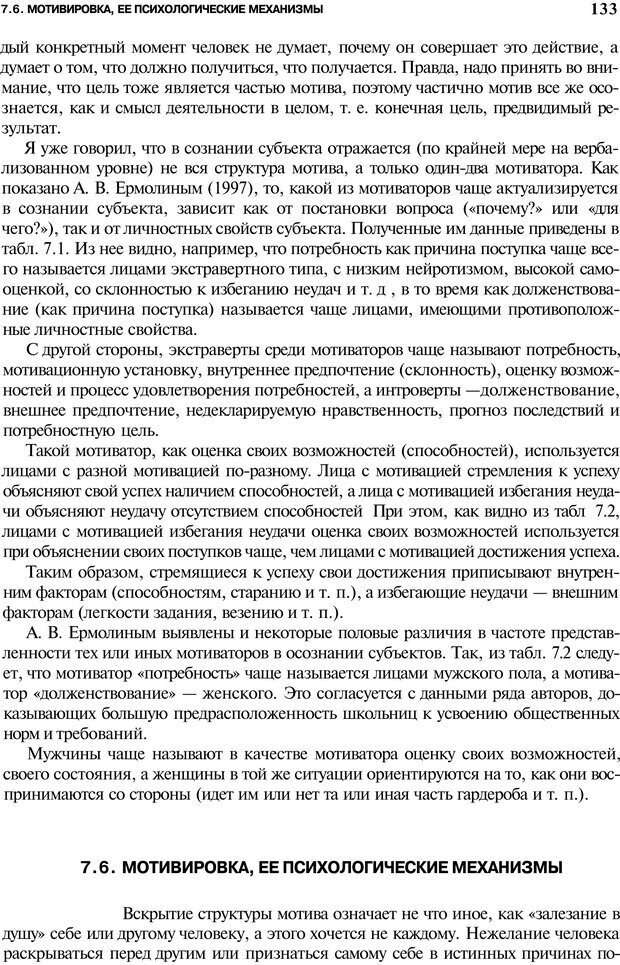 PDF. Мотивация и мотивы. Ильин Е. П. Страница 133. Читать онлайн