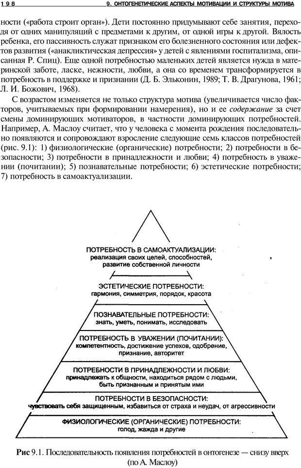PDF. Мотивация и мотивы. Ильин Е. П. Страница 198. Читать онлайн