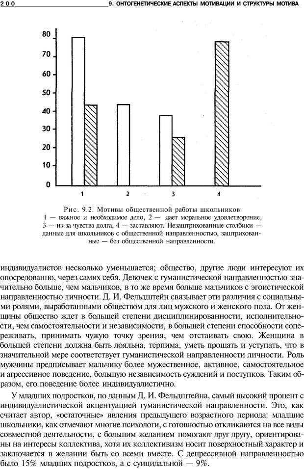 PDF. Мотивация и мотивы. Ильин Е. П. Страница 200. Читать онлайн