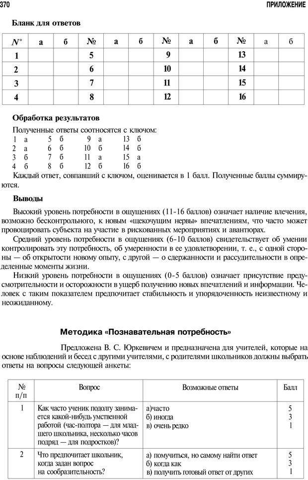 PDF. Мотивация и мотивы. Ильин Е. П. Страница 370. Читать онлайн