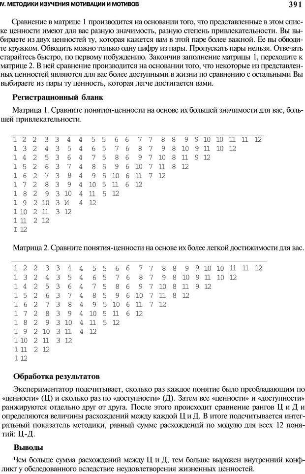 PDF. Мотивация и мотивы. Ильин Е. П. Страница 391. Читать онлайн