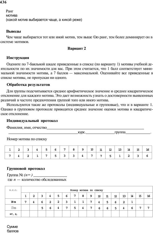 PDF. Мотивация и мотивы. Ильин Е. П. Страница 436. Читать онлайн