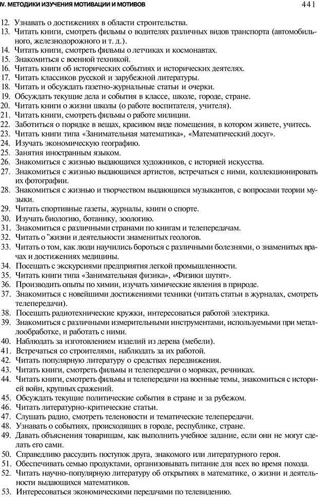 PDF. Мотивация и мотивы. Ильин Е. П. Страница 441. Читать онлайн