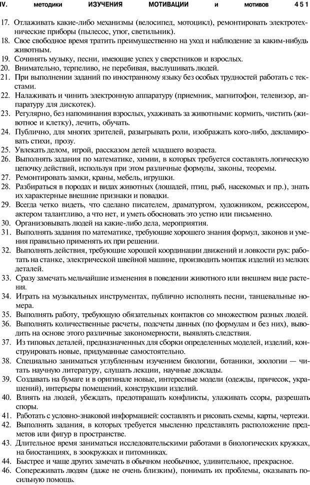 PDF. Мотивация и мотивы. Ильин Е. П. Страница 452. Читать онлайн