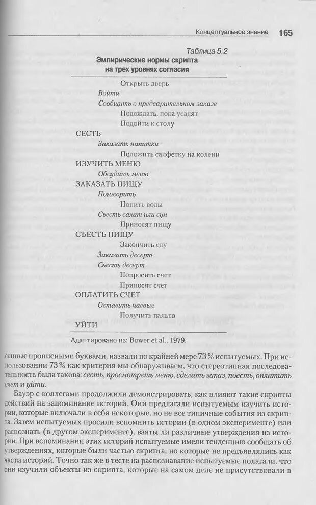 DJVU. Когнитивная психология [5-е издание]. Андерсон Д. Страница 162. Читать онлайн