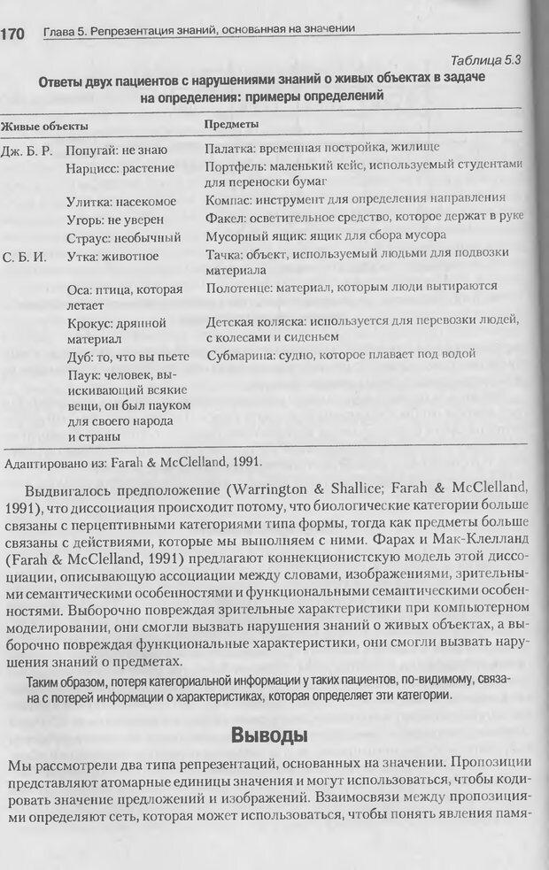 DJVU. Когнитивная психология [5-е издание]. Андерсон Д. Страница 167. Читать онлайн