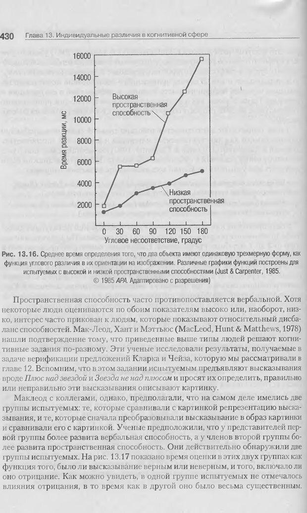 DJVU. Когнитивная психология [5-е издание]. Андерсон Д. Страница 427. Читать онлайн