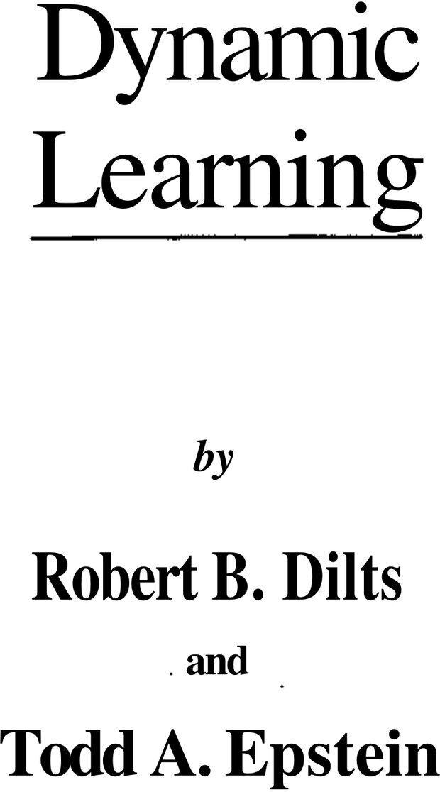 PDF. Динамическое обучение. Дилтс Р. Страница 1. Читать онлайн