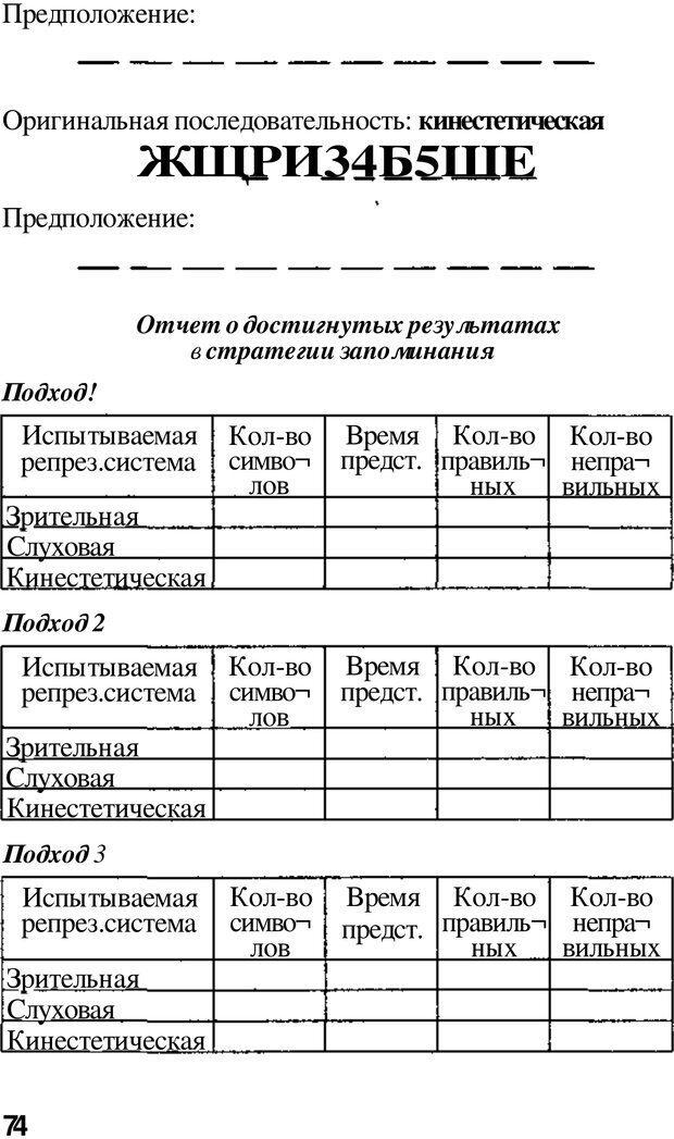 PDF. Динамическое обучение. Дилтс Р. Страница 73. Читать онлайн