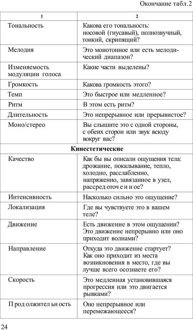 PDF. Терапевтические техники НЛП. Кочарян Г. С. Страница 26. Читать онлайн