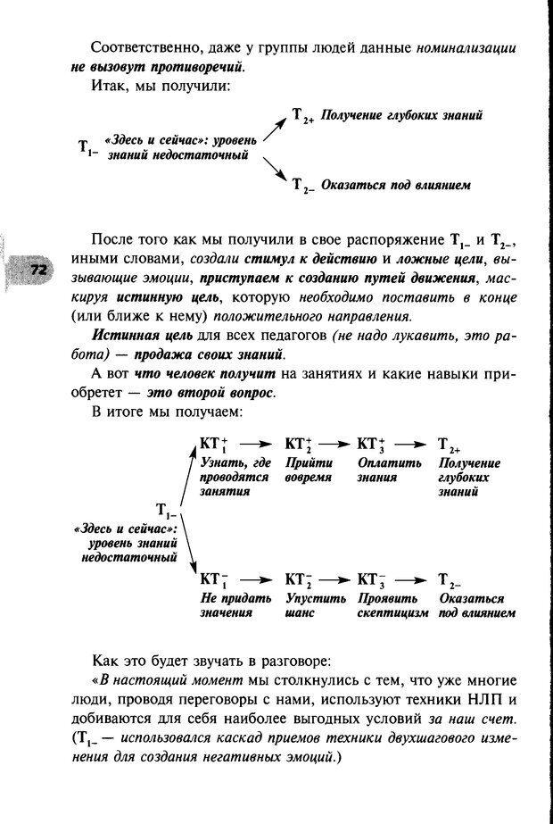DJVU. НЛП по-русски. Воедилов Д. В. Страница 71. Читать онлайн