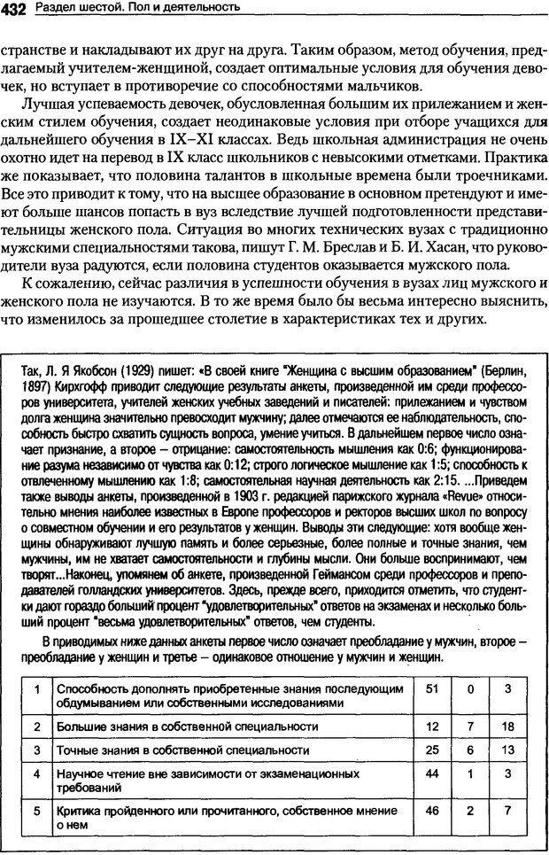 DJVU. Пол и гендер. Ильин Е. П. Страница 431. Читать онлайн