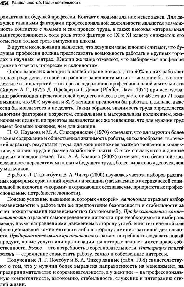DJVU. Пол и гендер. Ильин Е. П. Страница 453. Читать онлайн