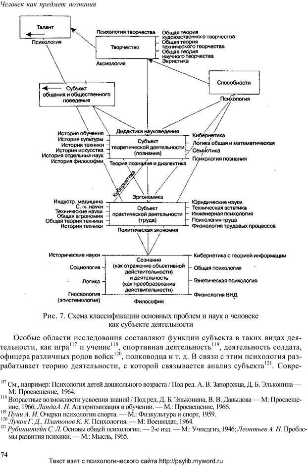 PDF. Человек как предмет познания. Ананьев Б. Г. Страница 76. Читать онлайн