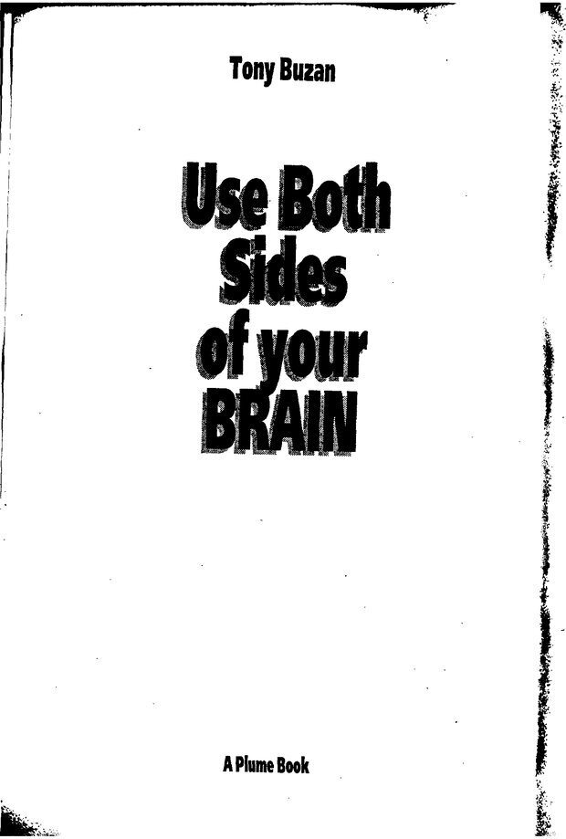 DJVU. Научите себя думать! (Use Both Sides of your BRAIN). Бьюзен Т. Страница 1. Читать онлайн