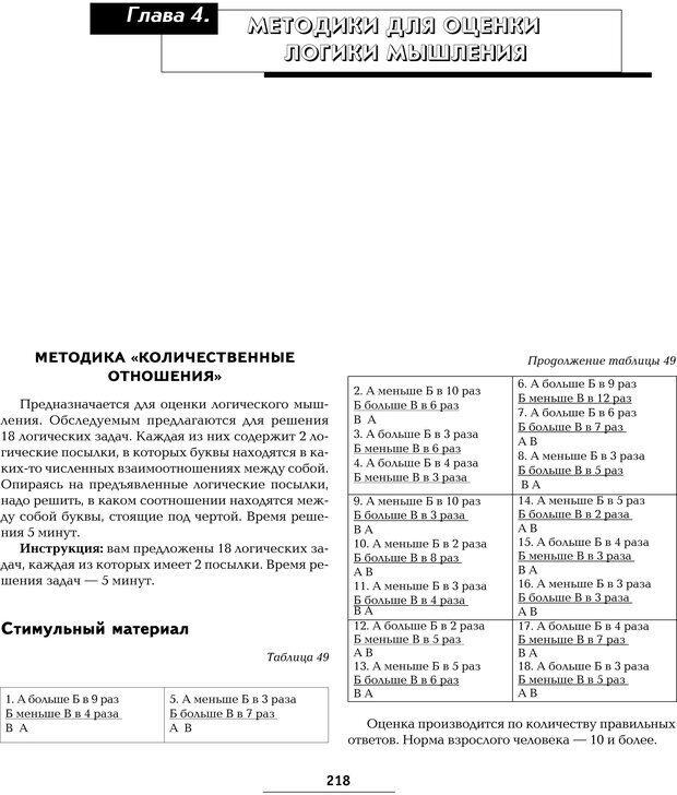 PDF. Большая энциклопедия психологических тестов. Карелин А. А. Страница 216. Читать онлайн