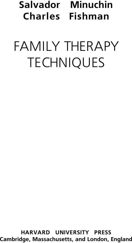 PDF. Техники семейной терапии. Минухин С. Страница 1. Читать онлайн
