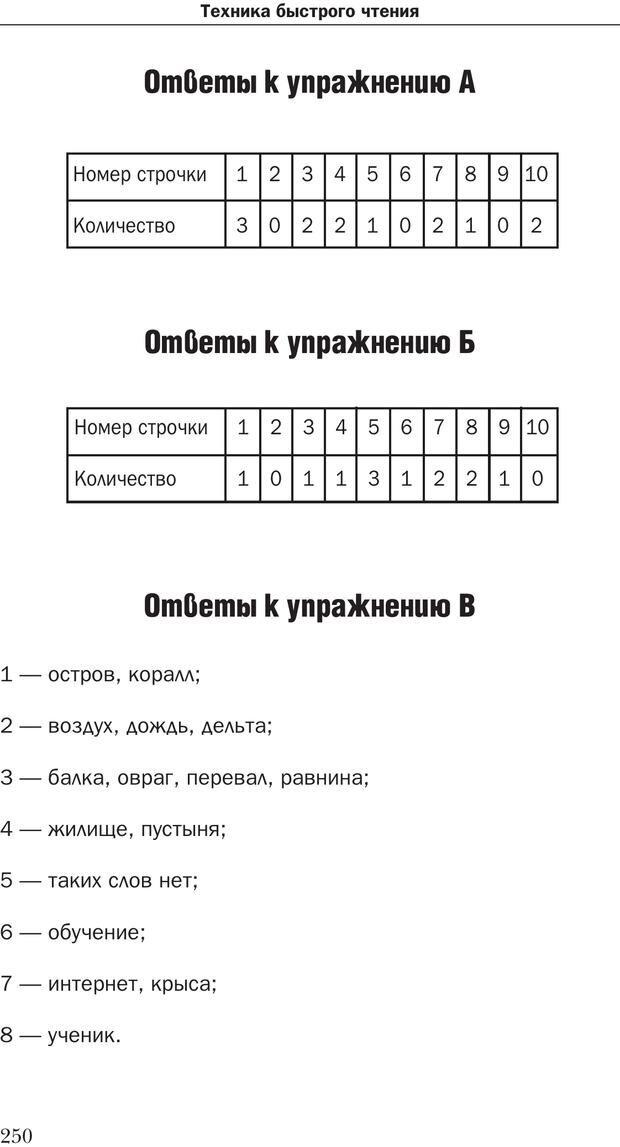 PDF. Техника быстрого чтения[самоучитель]. Андреев О. А. Страница 250. Читать онлайн