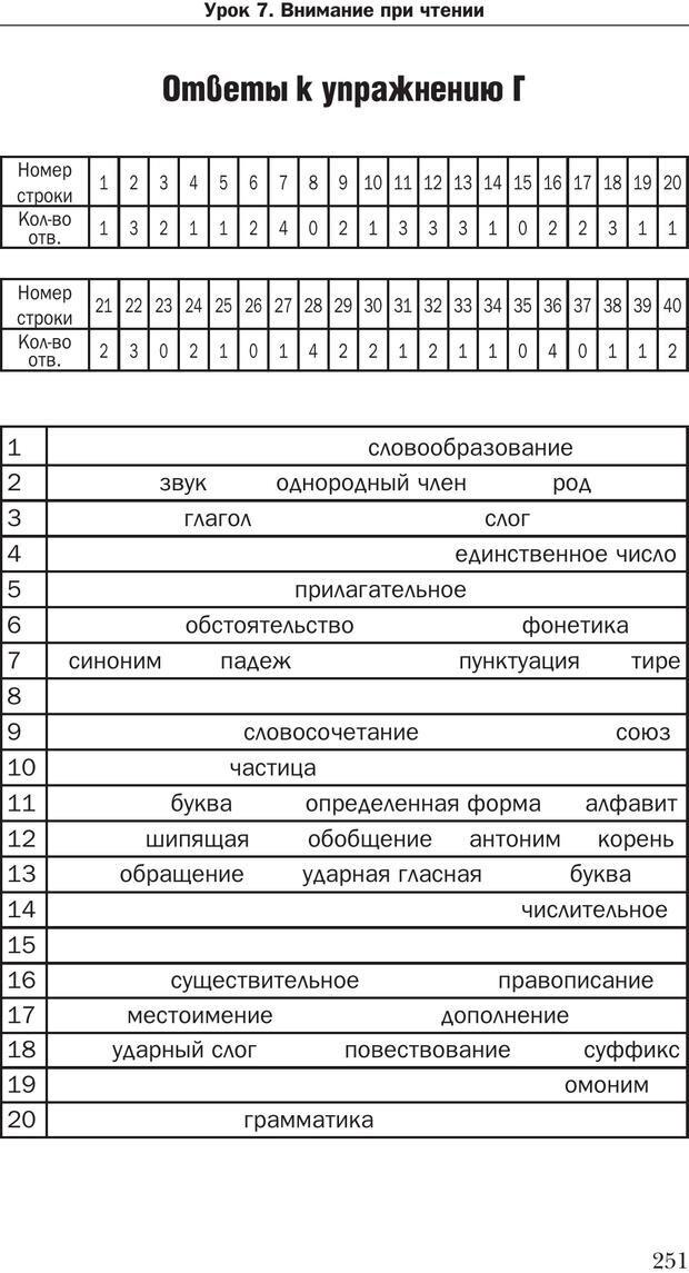 PDF. Техника быстрого чтения[самоучитель]. Андреев О. А. Страница 251. Читать онлайн