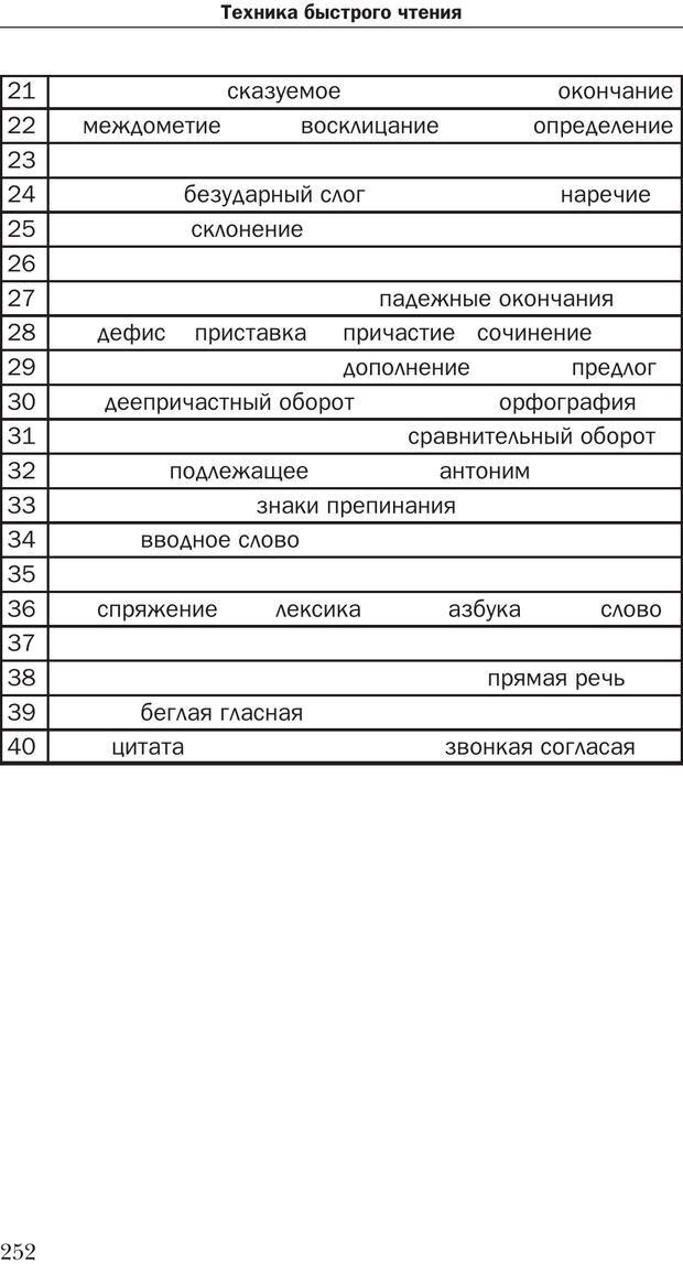 PDF. Техника быстрого чтения[самоучитель]. Андреев О. А. Страница 252. Читать онлайн