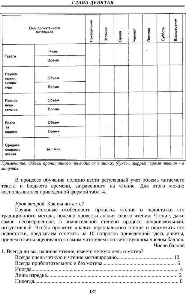 PDF. Техника быстрого чтения. Кузнецов О. А. Страница 129. Читать онлайн