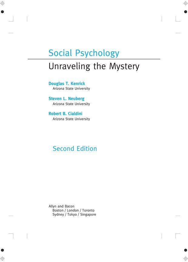PDF. Социальная психология: Агрессия, лидерство, альтруизм, конфликты, группы. Чалдини Р. Б. Страница 1. Читать онлайн