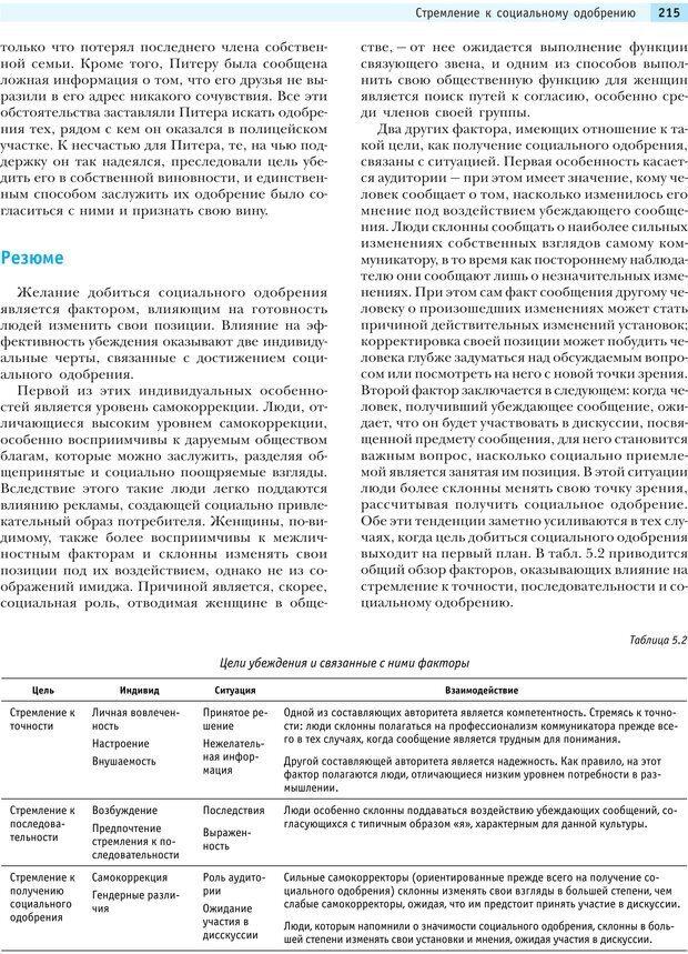 PDF. Социальная психология: Влияние, убеждение, самооценка, дружба, любовь. Чалдини Р. Б. Страница 214. Читать онлайн