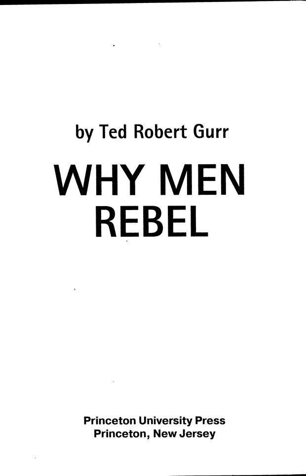 DJVU. Почему люди бунтуют. Гарр Т. Р. Страница 1. Читать онлайн