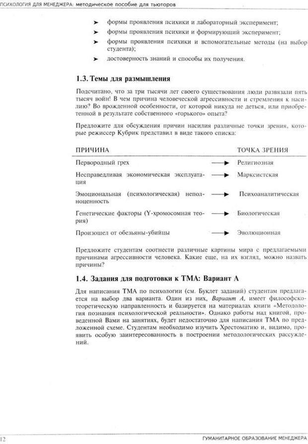 PDF. Психология для менеджера. Ишков А. Д. Страница 14. Читать онлайн